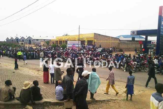 Protesters jammed streets demanding that UK releases Gen. Karenzi Karake.