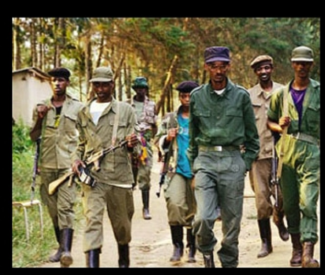 When Maj. Gen. Kagame (center) took over as RPA commander, he swiftly moved the his army to the mountains, and changed the entire liberation plan.