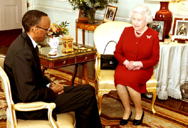 President Paul Kagame Interacts with England's Queen Elizabeth II