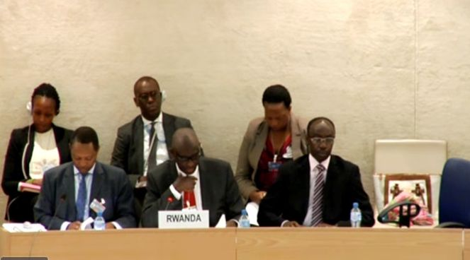 Rwanda delegation at the 23rd session of Universal Periodic Review convened in Geneva Switzerland