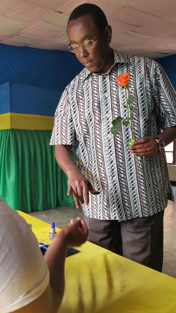 Senate President Bernard Makuza after voting