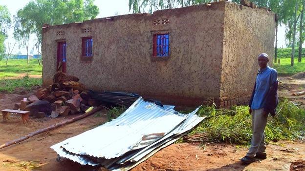Man ponders next move after rain destroyed his house at Musenyi in Karangazi sector, Nyagatare district