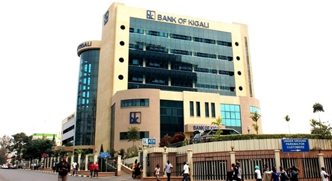 Bank of Kigali , in background is Kenya Commercial Bank in the heart of Kigali city