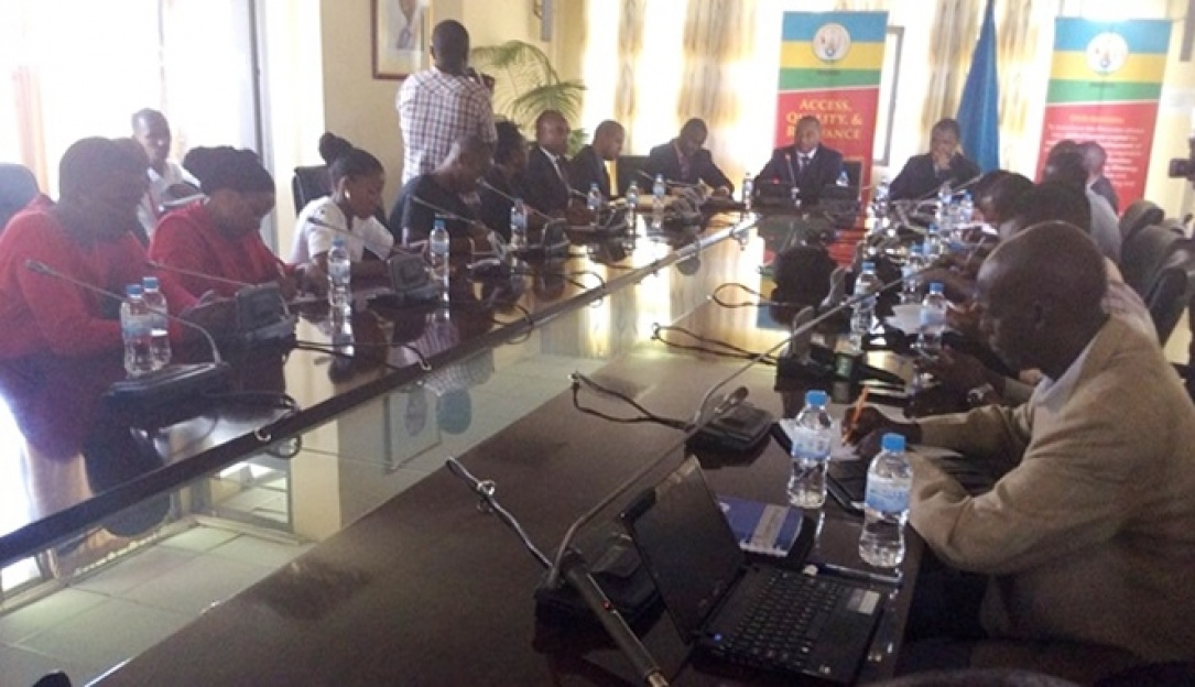 Journalists at a press conference during the official release of 2015 National Examination results
