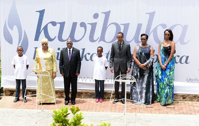 Genocide Commemoration Starts As Kagame And Magufuli Light Flame Of Remembrance