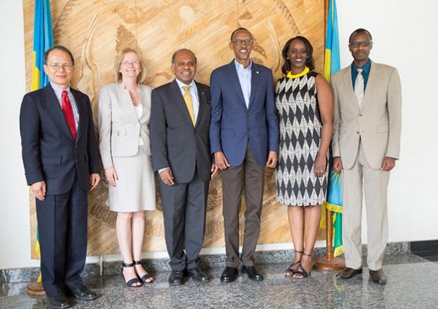 Carnegie Mellon University team meeting President Paul Kagame