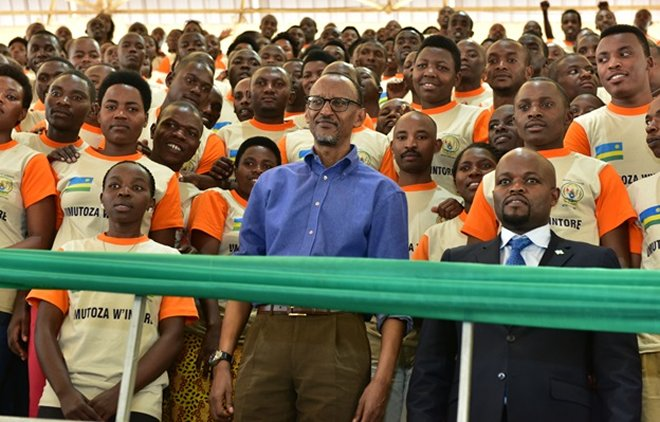 President Paul Kagame meets Youth at Petit Stade