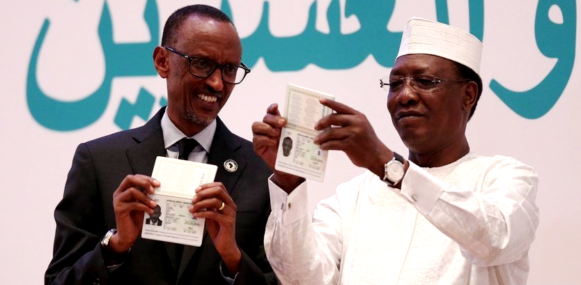 President Paul Kagame and President Idriss Deby get their Africa Passport