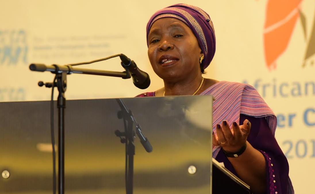 Dr. Nkosazana Dlamini-Zuma, the chairperson of African Union
