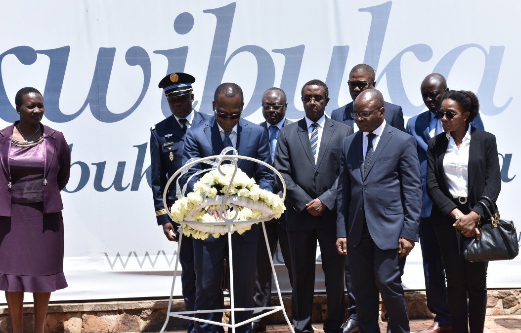 President Patrice Talon of the republic of Benin honours Victims of the 1994 genocide against Tutsi