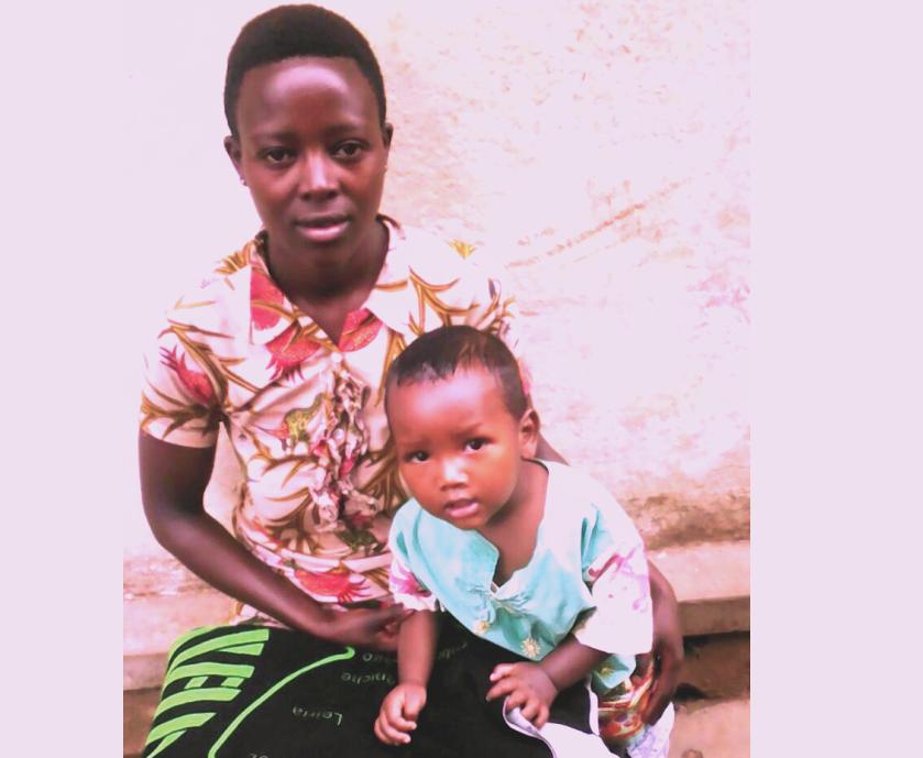 Justine Ishimwe and her child