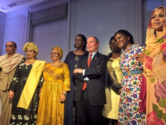 The First Lady Jeannette Kagame(4th from left) at the Bloomberg.org event