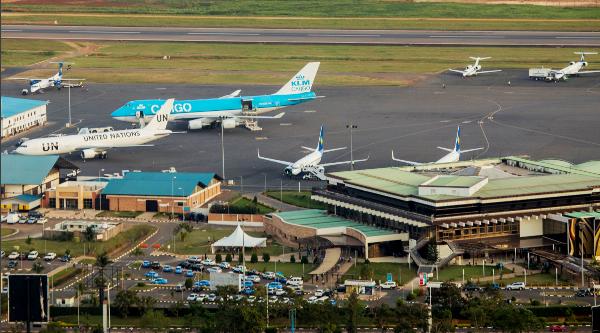 View of Kigali International airport
