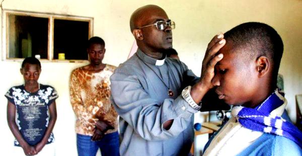 Fr.Ubald Rugirangoga prays for youth