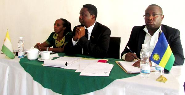 Green Party President Frank Habineza (c)