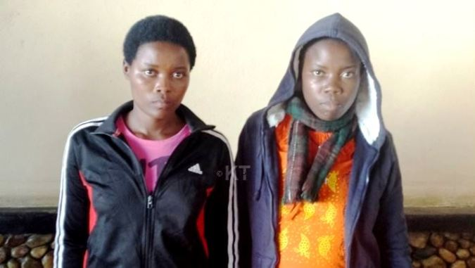 Nikuze and her young sister after a successful kidney transplant
