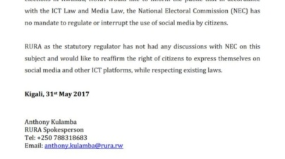 Election Commission Cannot Control Social Media – Says Regulator