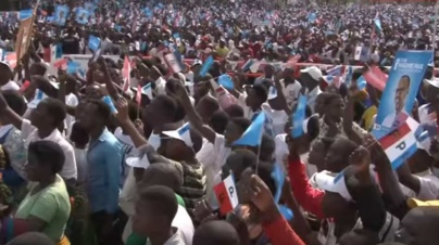RPF Candidate Paul Kagame Campaigns in Karongi District July 28