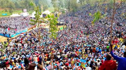 RPF Supporters Fill up Nyaruguru Hills