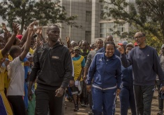 Car Free Day: Kagame Shows Support to Fitness Initiative