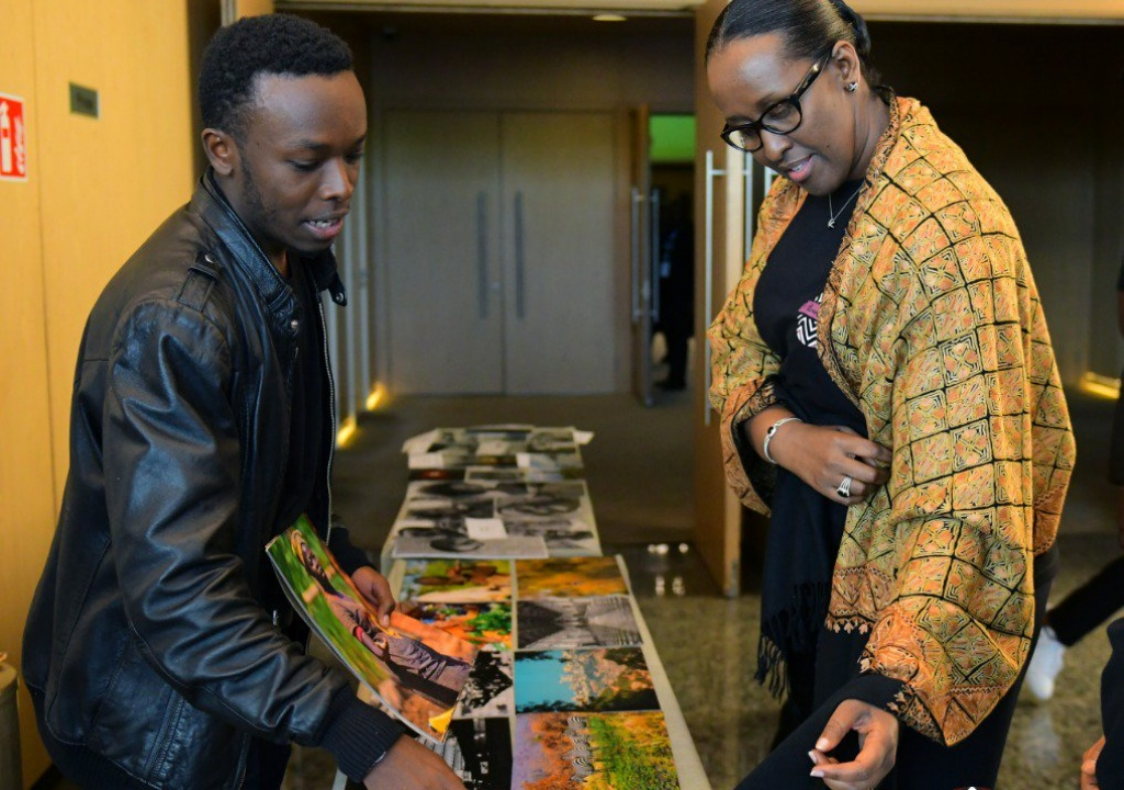 First Lady Jeannette Kagame Demands Humility in Local Artists
