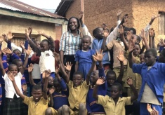 One Year after Thunder Strike: UK Volunteer Returns to Nyabimata with A Gift