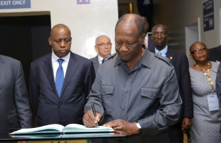 President Ouattara Mourns Genocide Victims