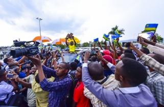 Fanfare Reception for 'La Tropicale' Champion, Team Rwanda