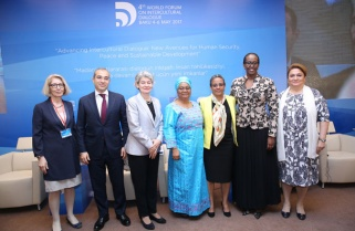 Jeannette Kagame Speaks in Azerbaijan at Intercultural Dialogue