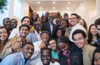Kagame Meets Carnegie Mellon University Students