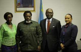 President Kabila Supports Mushikiwabo Candidacy at the Helm of OIF