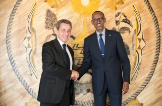Kagame Receives Nicolas Sarkozy
