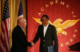 Kagame Receives Golden Plate Award, Dedicates It To Rwandans