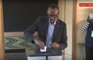 RPF Candidate Paul Kagame Casts his Vote