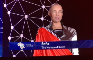 Sophia the Robot Excited by Kigali's Smart Transport System