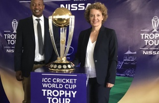 ICC Cricket World Cup Trophy Arrives in Kigali