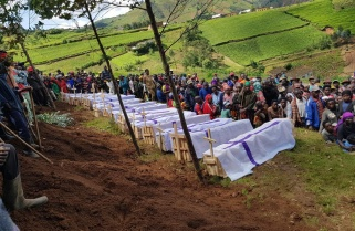 Grief and Horror as Landslide Victims are Buried In Western Rwanda