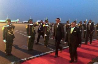 Kagame in Angola for Inauguration of President João Lourenço