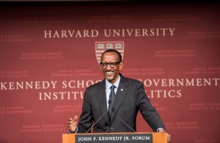 Kagame's Lecture At The Harvard Institute Of Politics