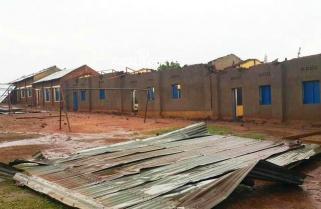 Heavy Rain Destroys GS Nyarusange School