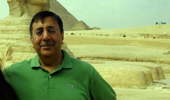 Mr. Sanjeev Anand touring the Pharaoh pyramids in Egypt (Facebook photo)