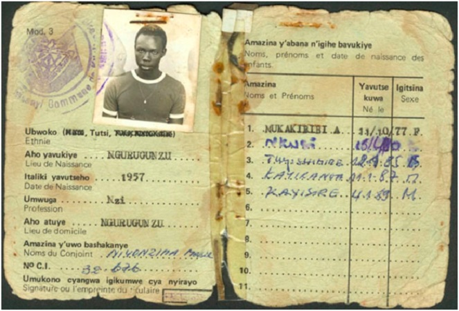 The Notorious national ID. The first detail of the Holder was their Ethnicity. This was instrumental in identifying Tutsi during the 1994 genocide. Over a million Tutsi were killed.
