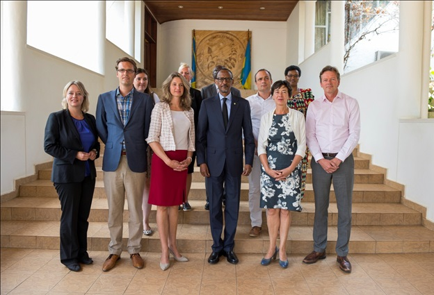 President Paul Kagame meeting with the Dutch Members of parliament at Village Urugwiro