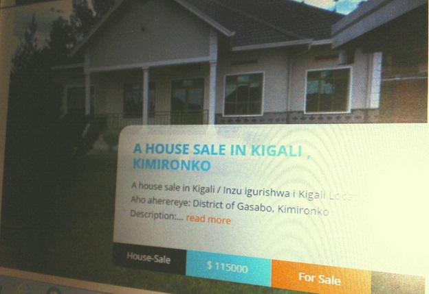 A house on sale in a Kigali suburb but pricing is in US dollars. The local currency value has since April experienced a gradual fall; however, the central Bank has intervened to streamline the foreign exchange market.