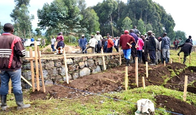 Construction of the model village has begun. Over 200 housing units will be built to accommodate families that have been living close to the volcanoes' Park also home to gorillas.