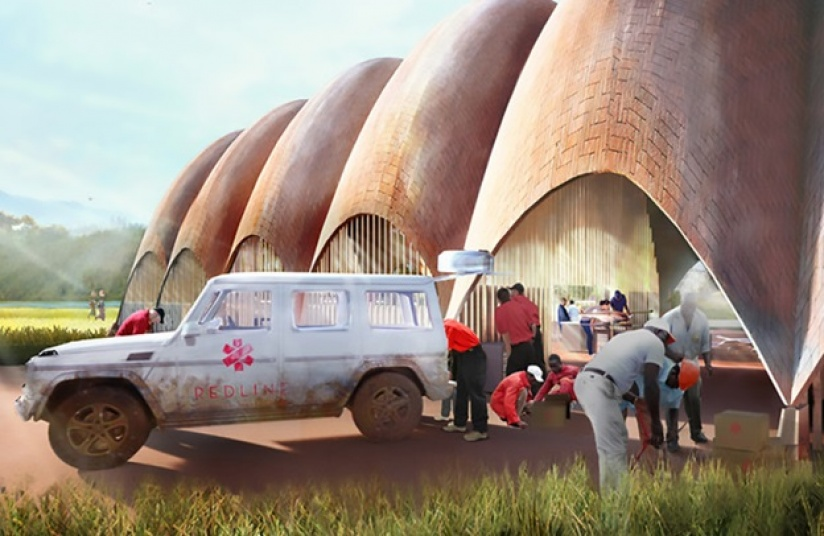 """Rwanda's challenging geographical and social landscape makes it an ideal test-bed for the Droneport project. This project can have massive impact through the century and save lives immediately."""" (photo/ Foster+ Partners)"""
