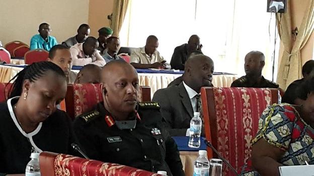 RDF Chief of Defense Staff Gen Patrick Nyamvumba at the Kigali Talks following his Kinshasa meeting with DRC counterpart Gen Etumba
