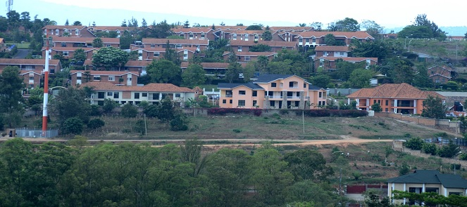 A complete housing estate in Kigali.