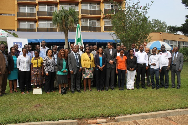 Participants at the consultative workshop hosted in Kigali aimed at finding solutions to Youth Unemployment