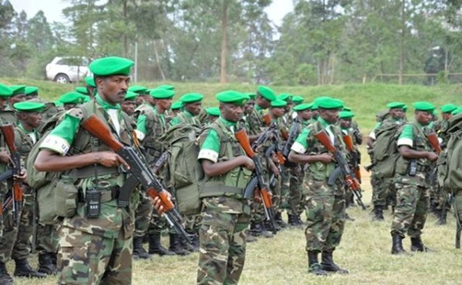Some of Rwanda troops ready for deployment on a Peace Keeping mission in Central African Republic